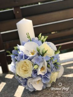 Florarie Online - Madame Florist - Lumanari Floral Wreath, Wreaths, Table Decorations, Home Decor, Bebe, Homemade Home Decor, Door Wreaths, Deco Mesh Wreaths, Garlands