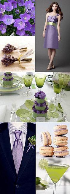 Margarita and Bellflower Wedding Inspiration Board