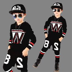 26.90$  Watch now - http://alidk1.worldwells.pw/go.php?t=32768953955 - Cool Boys Sport Suit Hooded Tracksuits For Boys Kids Outfits Boys Jogging Sets Children's Sports Clothing conjunto menino BZ2