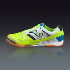 Joma Lozano - Fluo Yellow/White/Royal Indoor Soccer Shoes || SOCCER.COM