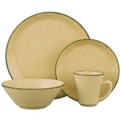 Sango® Comet 16-Piece Dinnerware Set in Cream - BedBathandBeyond.com