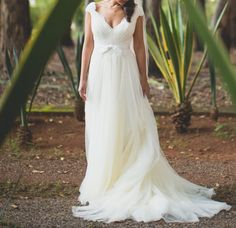 vestido de noiva bem romantico - casamento annasul y