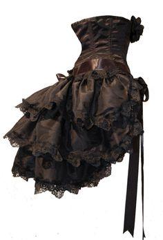 ZORITA - Classic Design Gothic Burlesque Bustle Skirt