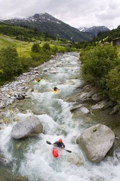 whitewater kayaking - Switzerland
