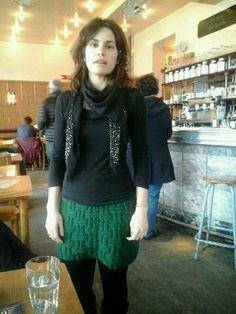 Falda de lana hecha a mano. Ver en el blog el patron...