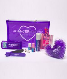 The pouch is filled with solutions for everyday emergencies dancers face during practice and performance. Whether in studio or on stage, keep this hardworking little kit handy in your dance bag so nex