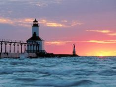 Michigan City Lighthouse in Indiana