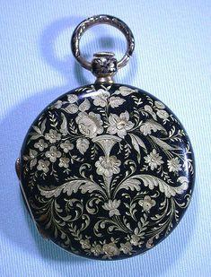 Bogoff Antique Pocket Watches 18K Gold Enamel - Bogoff Antique Pocket Watch # 6605 #pocketwatch