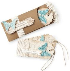 stampin up butterfly tag cards...