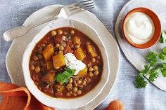 This fragrant pumpkin and chickpea curry makes a hearty vegetarian meal. Condensed Milk Recipes, Chickpea Curry, Veg Curry, Potato Curry, Vegetarian Meal, Cooking Recipes, Loaf Recipes, Cooking Ideas, Favorite Recipes