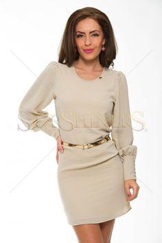 PrettyGirl Furtherance Cream Dress