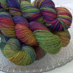 Autmn's Bounty  - Archie Aran - 50%BFL 50%Masham British yarn