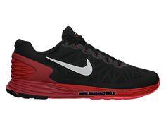 sneakers for cheap 1bf65 53828 Nike LunarGlide 6 Chaussures De Running Pas Cher Pour Homme Noir - Blanc -  Rouge 654433-006