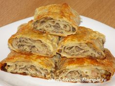 Pastry And Bakery, Bread And Pastries, Recipes Appetizers And Snacks, Dessert Recipes, Pastry Recipes, Cooking Recipes, Tapas, Hungarian Recipes, Romanian Recipes