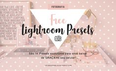 Free Lightroom Presets - Baixe Grátis Presets Do Lightroom, Lightroom Gratis, Vsco Presets, Feeds Instagram, Blog Images, Apps, Photo Editing, Presents, Free