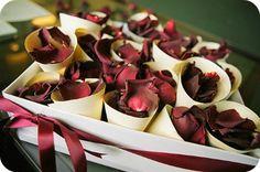 Alternative to Throwing Rice - Rose Petals - Photo:  Lisa Devlin