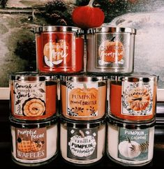 Bath and Body works got their fall seasonal candles back ❤️😍 Soirée Halloween, Halloween Bedroom, Halloween Candles, Halloween Care Packages, Fall Scents, Autumn Aesthetic, Autumn Cozy, Fall Candles, Fall Wallpaper