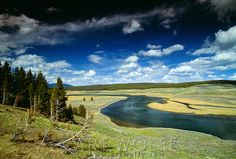A valley in Yellowstone National Park, Wyoming