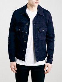 Topman Dark Blue Stretch Skinny Denim Jacket