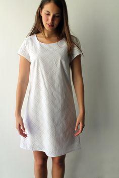 Women White dress, Women bridal dress, Women white Cotton dress, A shape dress, Summer Dress via Etsy