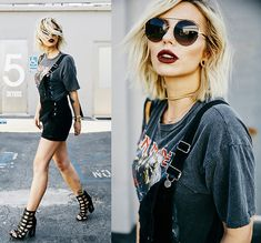 Get this look: http://lb.nu/look/8361511  More looks by Masha Sedgwick: http://lb.nu/mashasedgwick  Items in this look:  Madewell Dungarees, Escada Sunnies   #casual #edgy #grunge