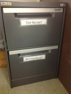 Ironically the bottom secret drawer contains the top secret files... We suspect there's a new intern