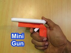 How to Make a Paper Gun that shoots wooden bullets - Easy Tutorials - YouTube
