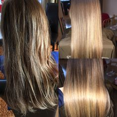 Before and after CocoChoco Brazilian Keratin Treatment