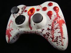 Custom Bloody Xbox 360 Controller Xpert) Hand Airbrushed by ProModz via - Video Games - Ideas of Video Games - Custom Bloody Xbox 360 Controller Xpert) Hand Airbrushed by ProModz via Etsy Wii, Playstation, Manette Xbox 360, Control Xbox, Nintendo Switch, Arcade, Youtubers, Custom Consoles, Xbox 360 Controller