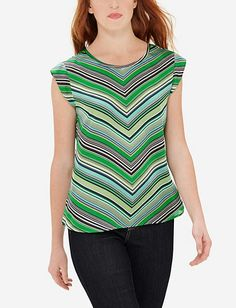 Silky Chevron Shell from THELIMITED.com