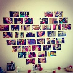 corazon hecho con fotos san valentin, detalles sencillos, facil de hacer y hermoso