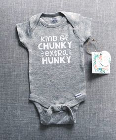 Kind of Chunky Extra Hunky Onesie® Baby Onesie® Baby Boy Baby Boys, Carters Baby, Baby Shoot, Custom Baby Onesies, Boy Onesie, Baby Boy Shirts, Cute Baby Clothes, Babies Clothes, Everything Baby