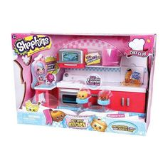 Get cooking in the Chef Club Kitchen! Your Shopkins will be ready to make and bake in this Shopkins Chefs Club Hot Spot Kitchen. Shopkins Chef Club, Christmas Wishes, Kids Christmas, Christmas Stuff, Shopkins Season 6, Realistic Baby Dolls, Best Cleaning Products, Jouer, Dorms Decor