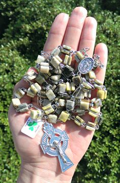 Green marble is only found in Connemara, Ireland. Carry a piece of Ireland with you in your prayers!