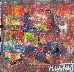 NEW PAINTING !  Mini Abstracts XVIII  30x30 cm  My website:   #art #paintings #artbylonfeldt