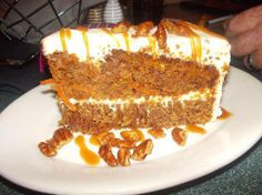 Try Carrot Cake from Wofgang Puck Cafe Downtown Disney! You'll just need Ingredients - Cake, 4 cups sugar, 3 cups oil, 1 cup eggs (approximately Wolfgang Puck Recipes, Disney Food, Disney Recipes, Disney Desserts, Disney Cakes, Cake Recipes, Dessert Recipes, Baking Recipes, Vegetarian Cake