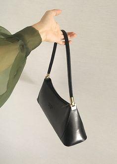 5d800cdbfc5a ITALIAN LEATHER BLACK SHOULDER BAG - MESCOLATO