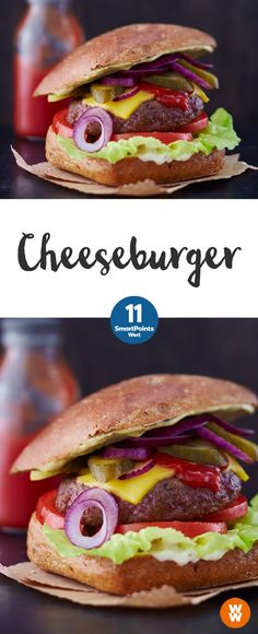 Angrillen_Index Cheeseburger, Burger, Grillen, Barbecue Weight Watcher Wraps, Weight Watchers Smart Points, Weight Watchers Meals, Weight Loss, Healthy Burger Recipes, Ww Recipes, Low Carb Recipes, Pizza Recipes, Hamburgers