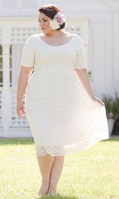 7f45cbfee61 Fashion Bug Plus Size Lace Dress in White. www.fashionbug.us  curvy