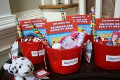 Fire Truck Theme Party Favors