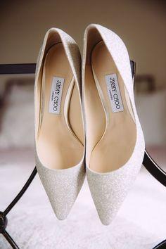 White Glitter Jimmy Choo Bride Bridal Shoes Romantic Soft Pastel Pretty Wedding http://hayleybaxterphotography.com/