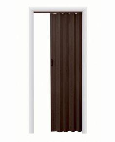 HomeStyles Plaza Vinyl Accordion Door, X Espresso