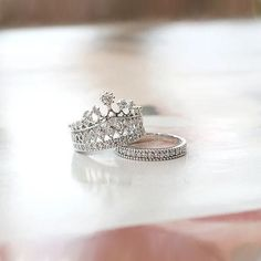 New Exquisite Princess Crown Alloy Plated Gold Women's Stack Ring