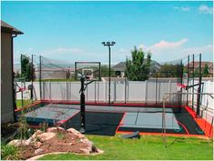 Basketball courts more on pinterest backyard for How wide is a basketball court