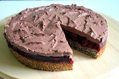 Makovo višňová torta