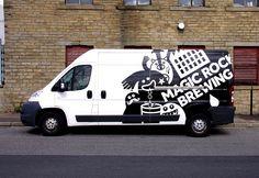 Magic rock brewing vehicle wrap handyman logo, van signage, car stickers, c Van Design, Logo Design, Signage Design, Handyman Logo, Vehicle Signage, Vehicle Branding, Van Signage, Eco Friendly Cars, Van Wrap