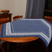 Tablecloths & Napkins   Fair Trade Kitchenware Tablecloth - Blue and White Vine Design $39.95  To place an order for this beautiful kitchen item, click on the link below www.oxfamshop.org.au #oxfam #oxfamshop #fairtrade #shopping #kitchen #kitchenware