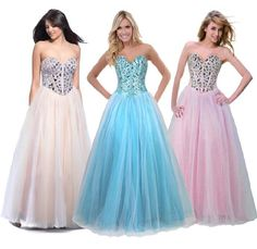 FairOnly Stock Sweetheart Evening Formal Long Prom Dress Size 6 8 10 12 14 16