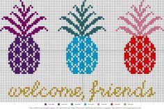 free pattern: pineapple cross-stitch