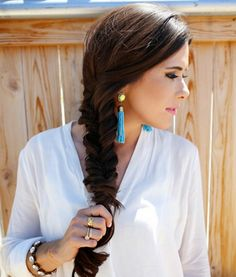 Styles For Thick, Wavy Hair. Fish tails are gorgeous! But my hair is far too short and thick.